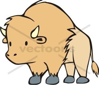 Buffalo clipart animated. Free cartoon download clip