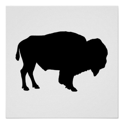 buffalo clipart silhouette