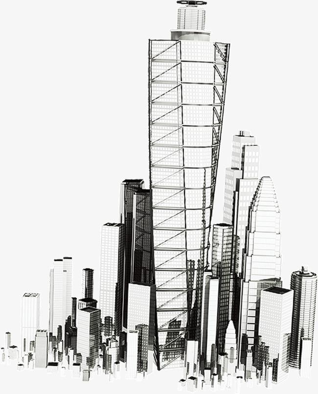 City building sketch.