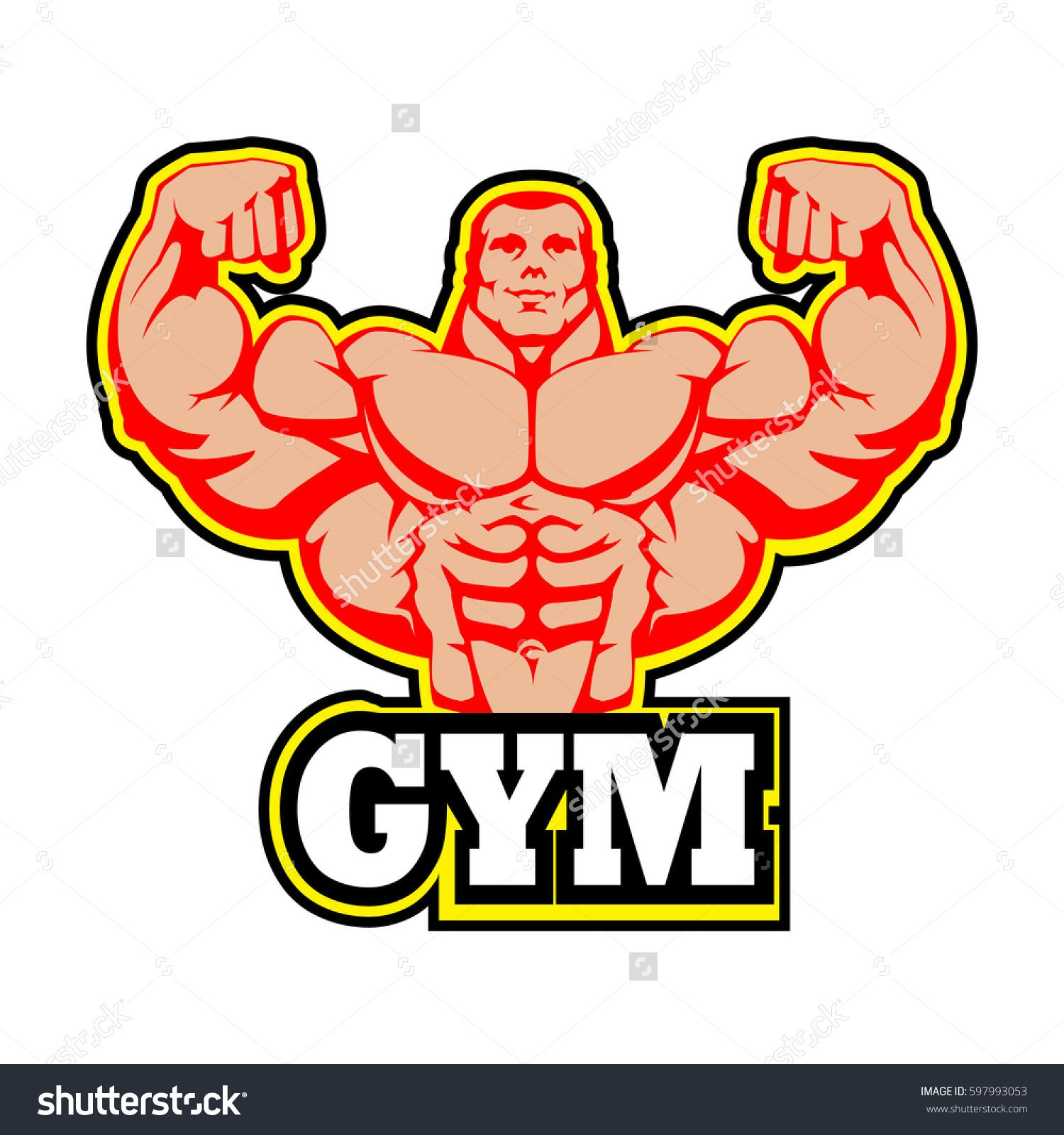 Gym logo vector.