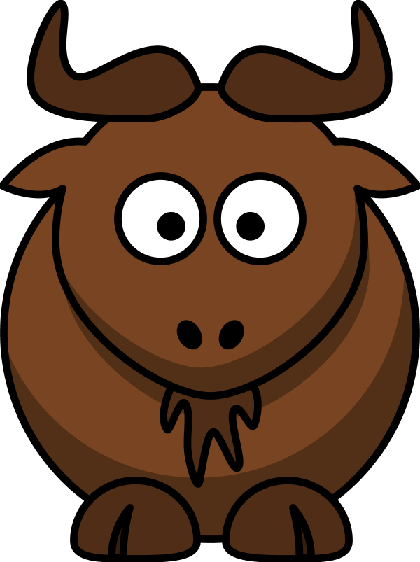 Bull clipart animated. Free cartoon images download