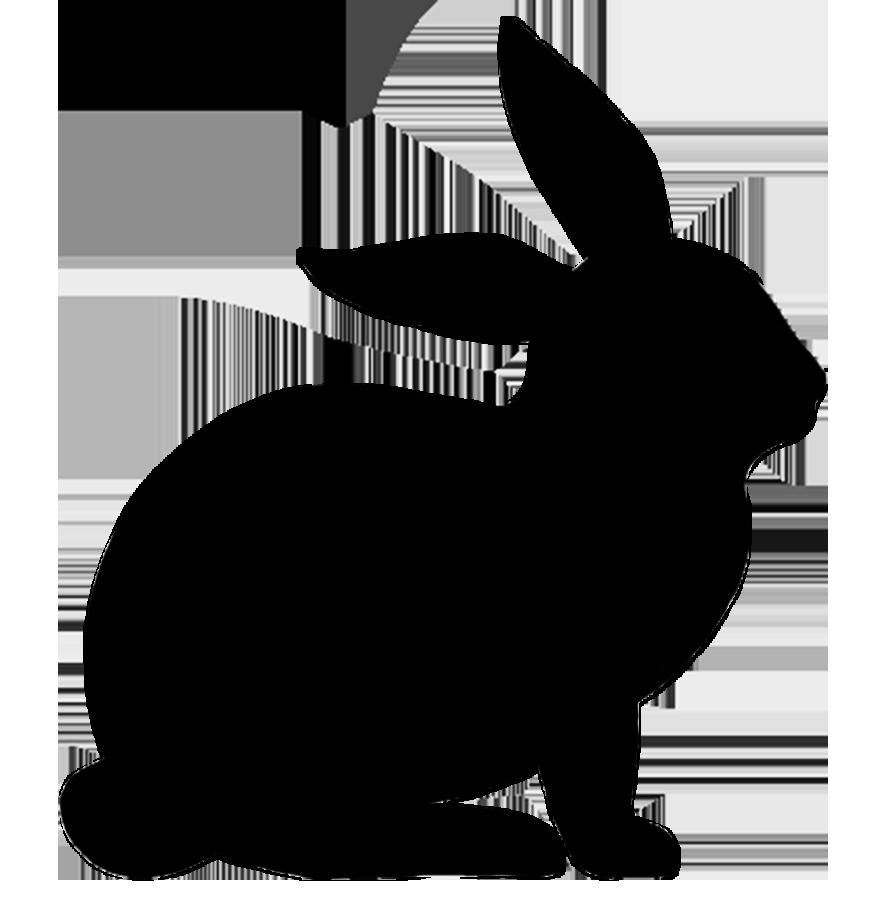 Rabbit silhouette google.