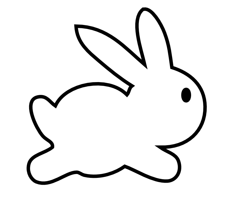Free bunny silhouette.