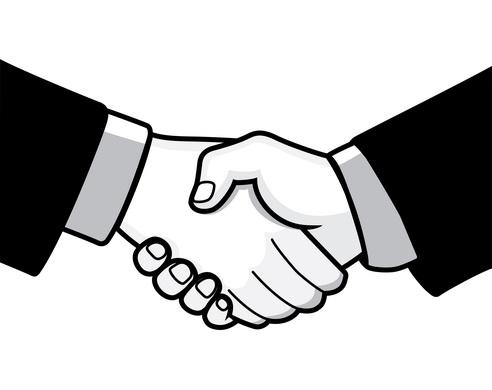 Free business handshake cliparts.