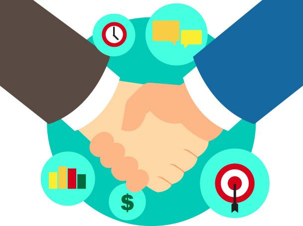 Business clipart partnership, Business partnership