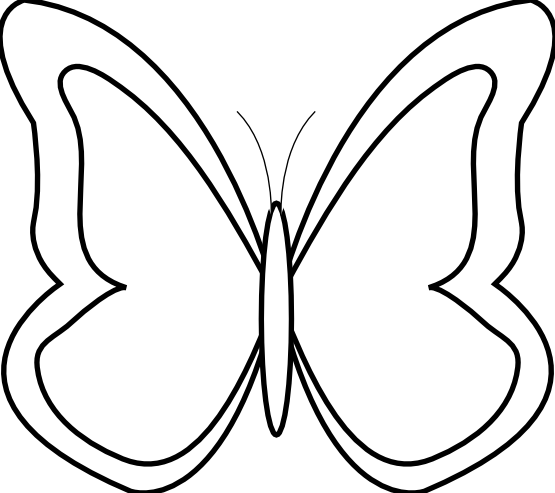 Butterfly black white.