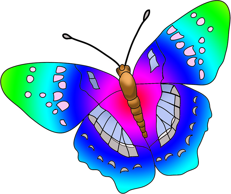 Free rainbow butterfly.
