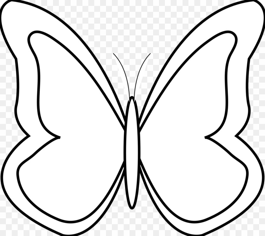 Butterfly Clip Art Black And White PNG Butterfly Clipart
