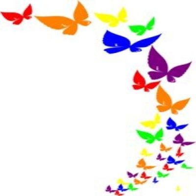 clipart corner butterfly