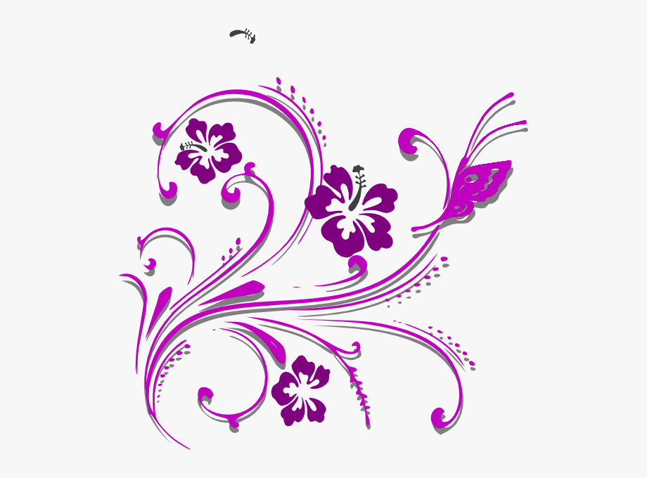 Butterfly scroll clip.