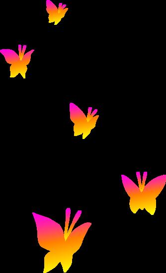 Butterflies transparent background.