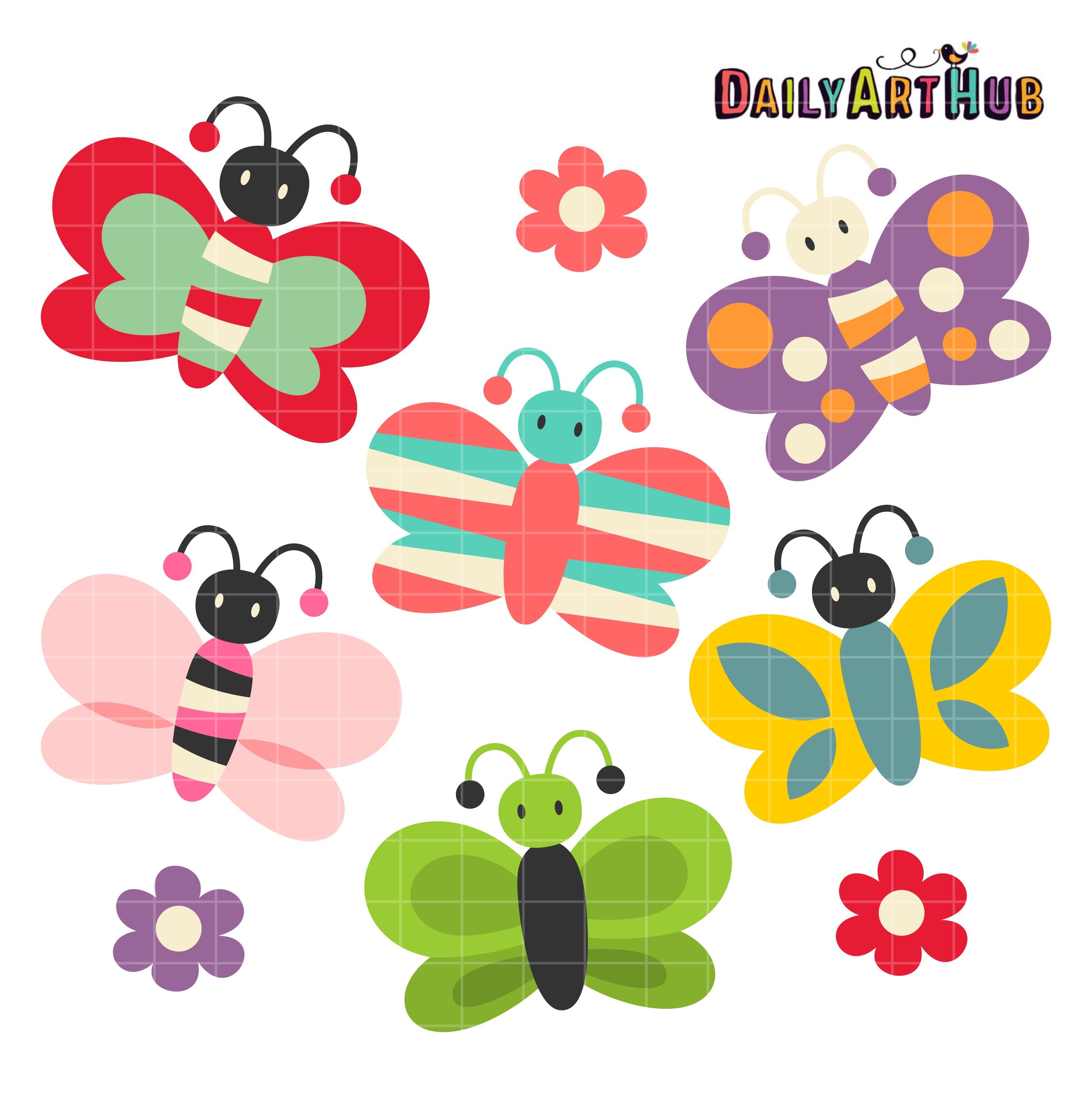 Cute butterflies clip.