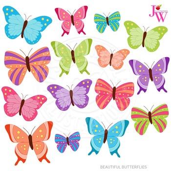 Beautiful butterflies cute.
