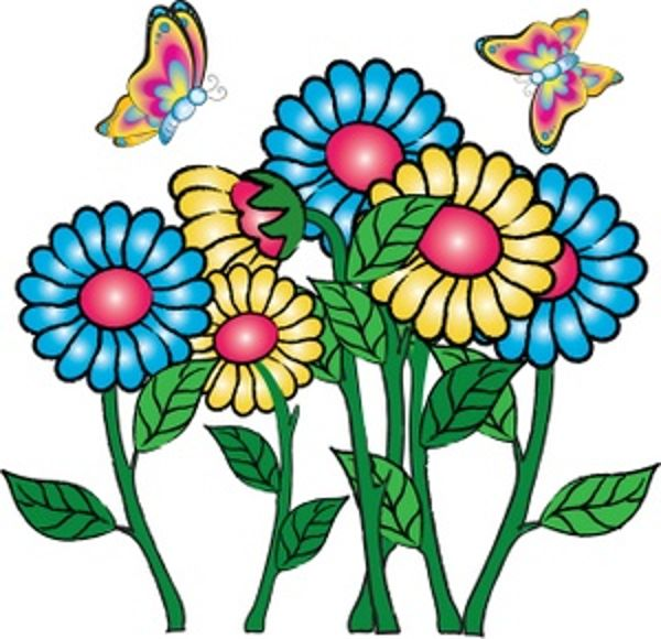 Free Flowers And Butterflies Clipart, Download Free Clip Art