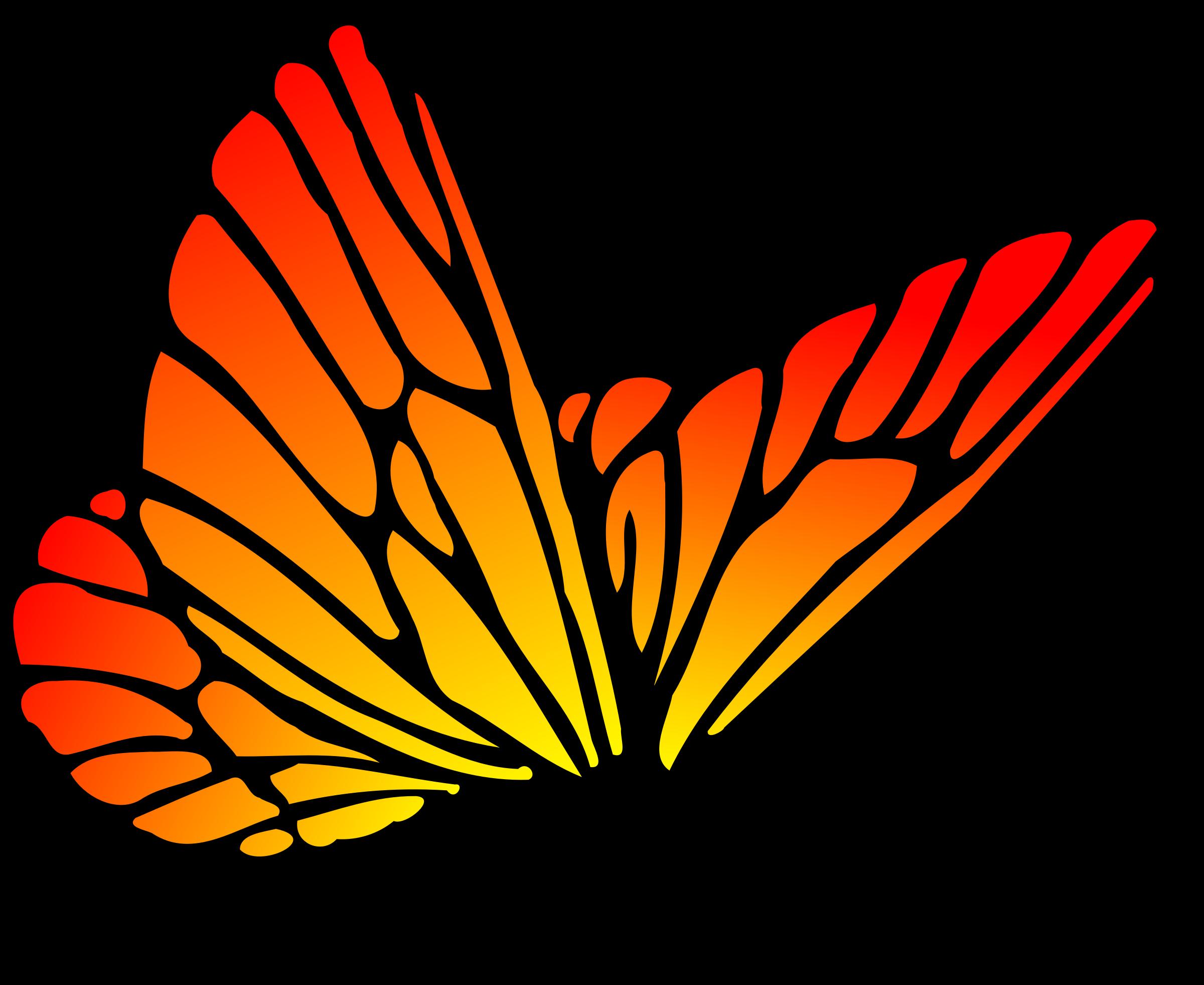 Red orange butterfly.
