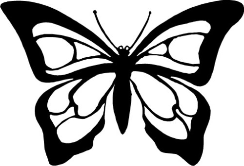 Free Butterfly Outline Clipart, Download Free Clip Art, Free