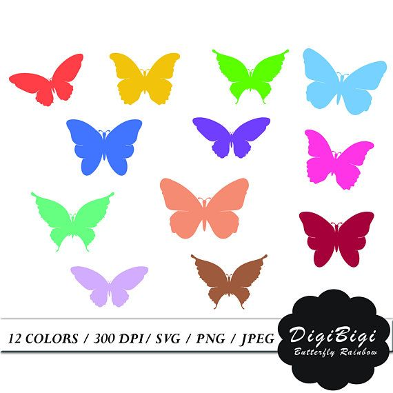 Butterfly clipart printable.