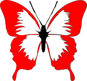 Red Butterfly Clip Art at Clker