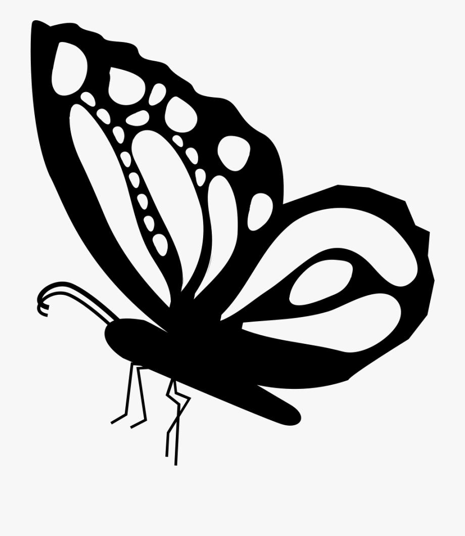 Butterfly Side View Shape