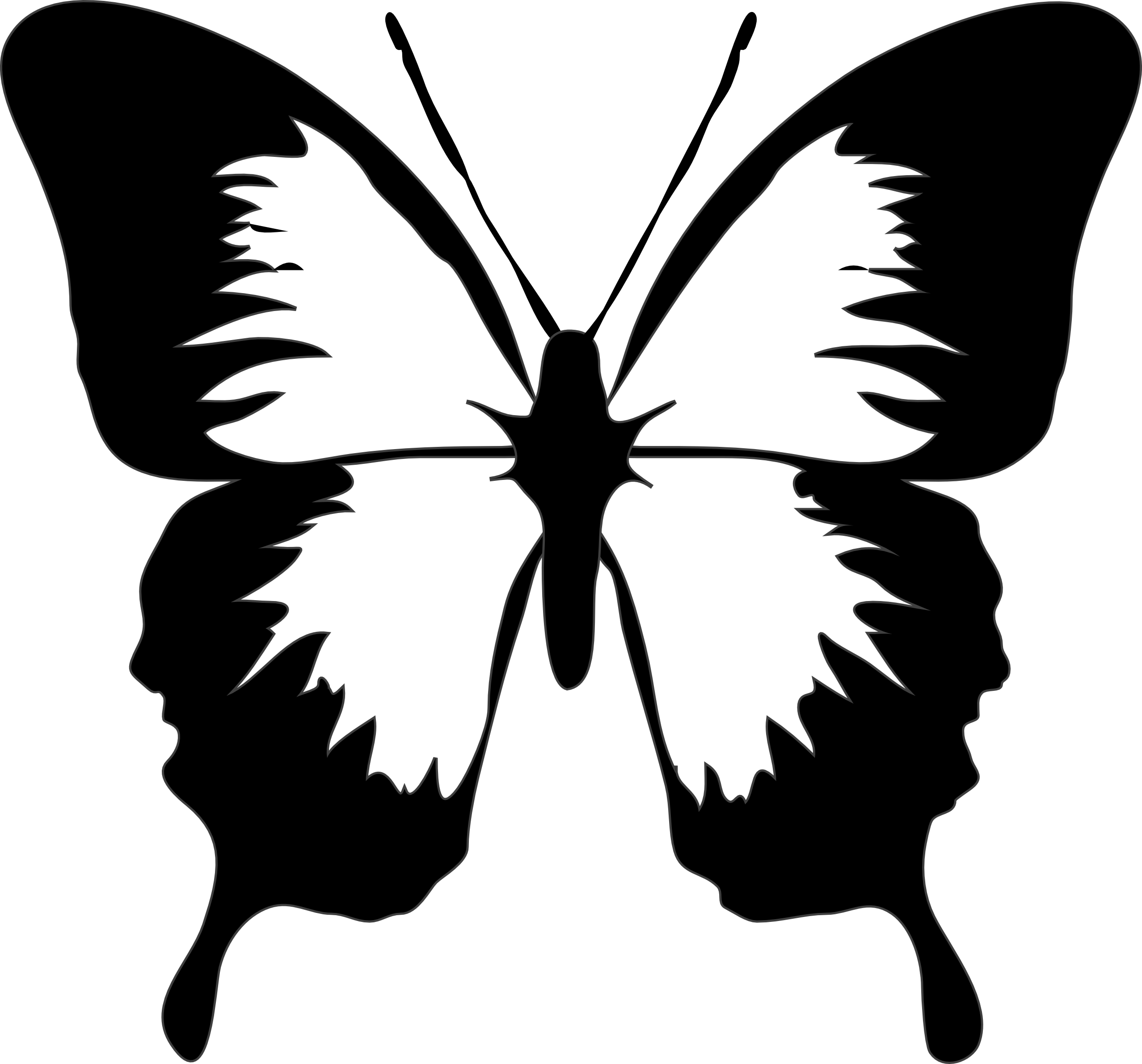 Free Simple Butterfly Black And White, Download Free Clip