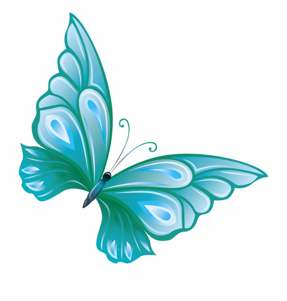 Transparent blue butterfly.