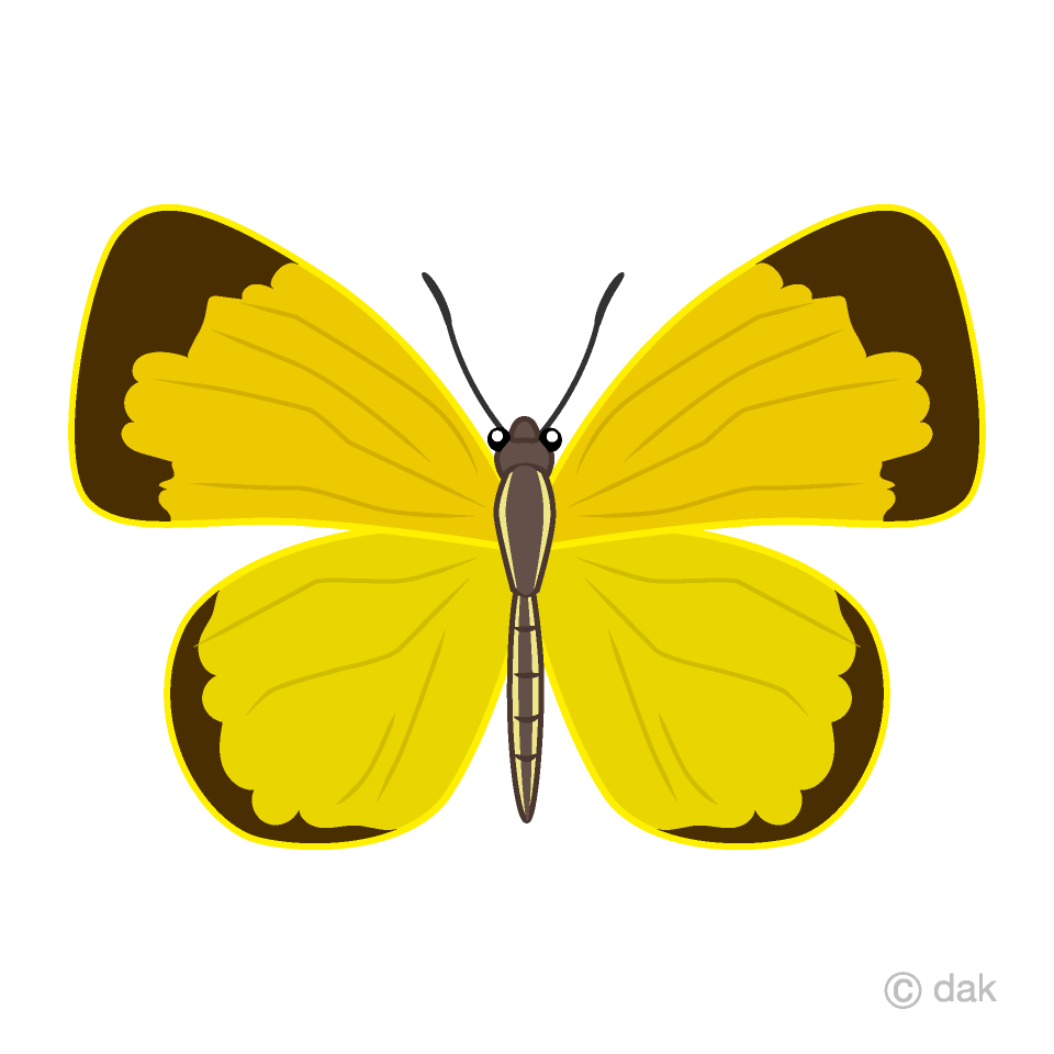Free Yellow Butterfly Clipart Image