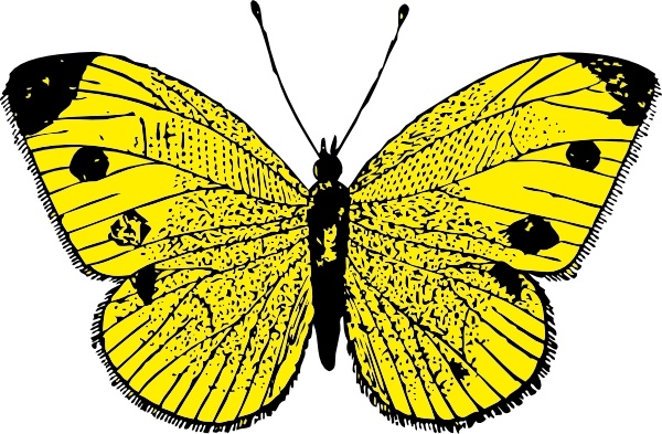 Yellow Butterfly clip art Free vector in Open office drawing