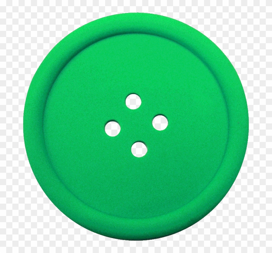 Greeen sewing button.
