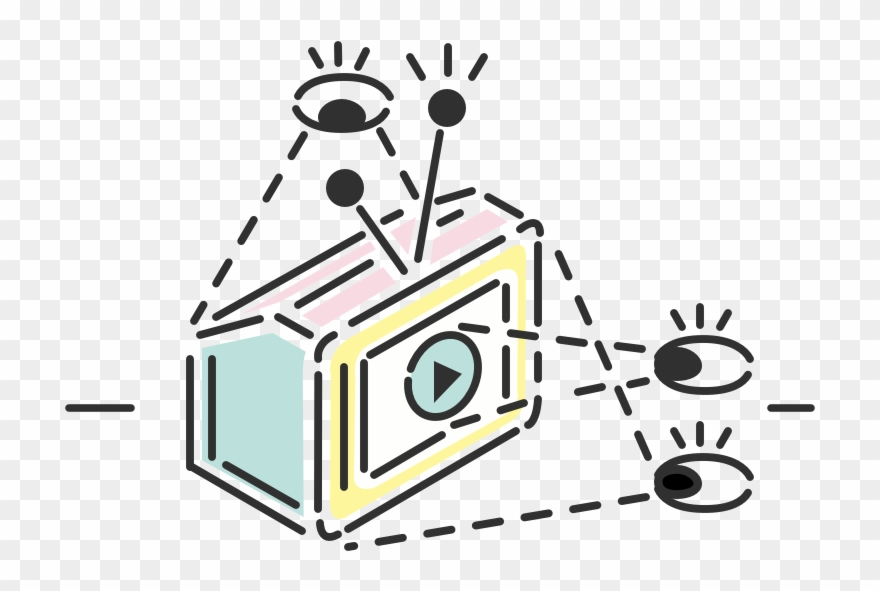 Button clipart illustration. Feature of eyes watching