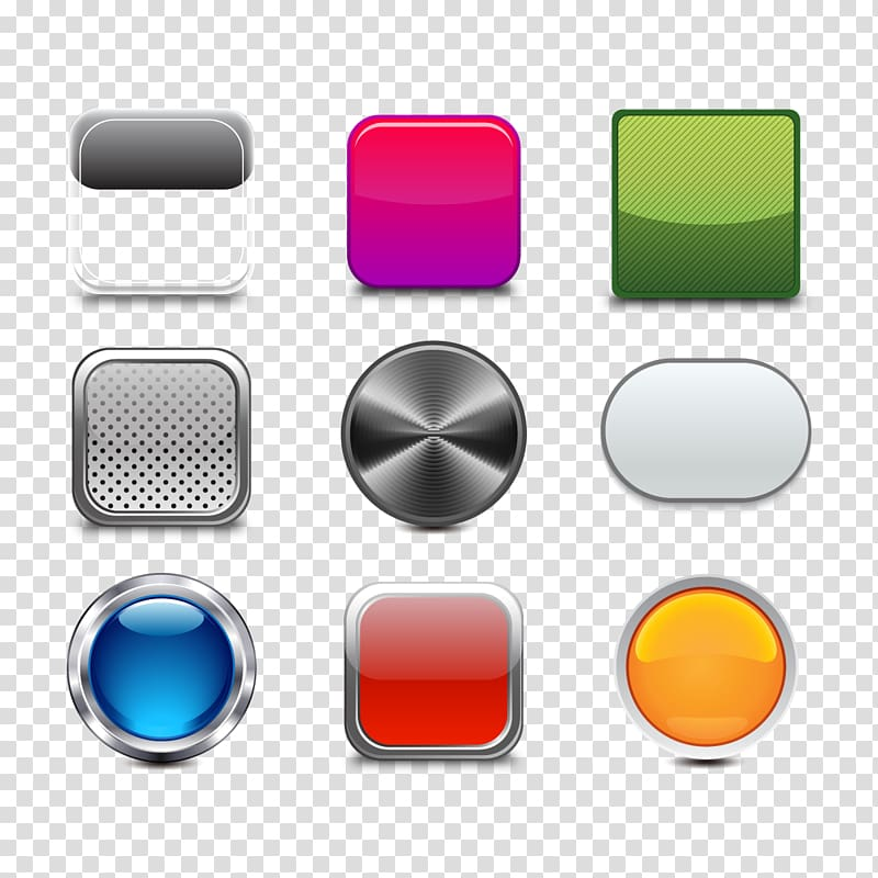 Button clipart illustration. Assorted color buttons metal