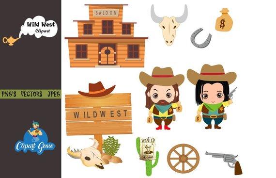 Cowboy clipart wild.