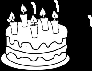 Birthday Cake Clipart Black And White