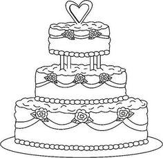 Modern wedding cakes.
