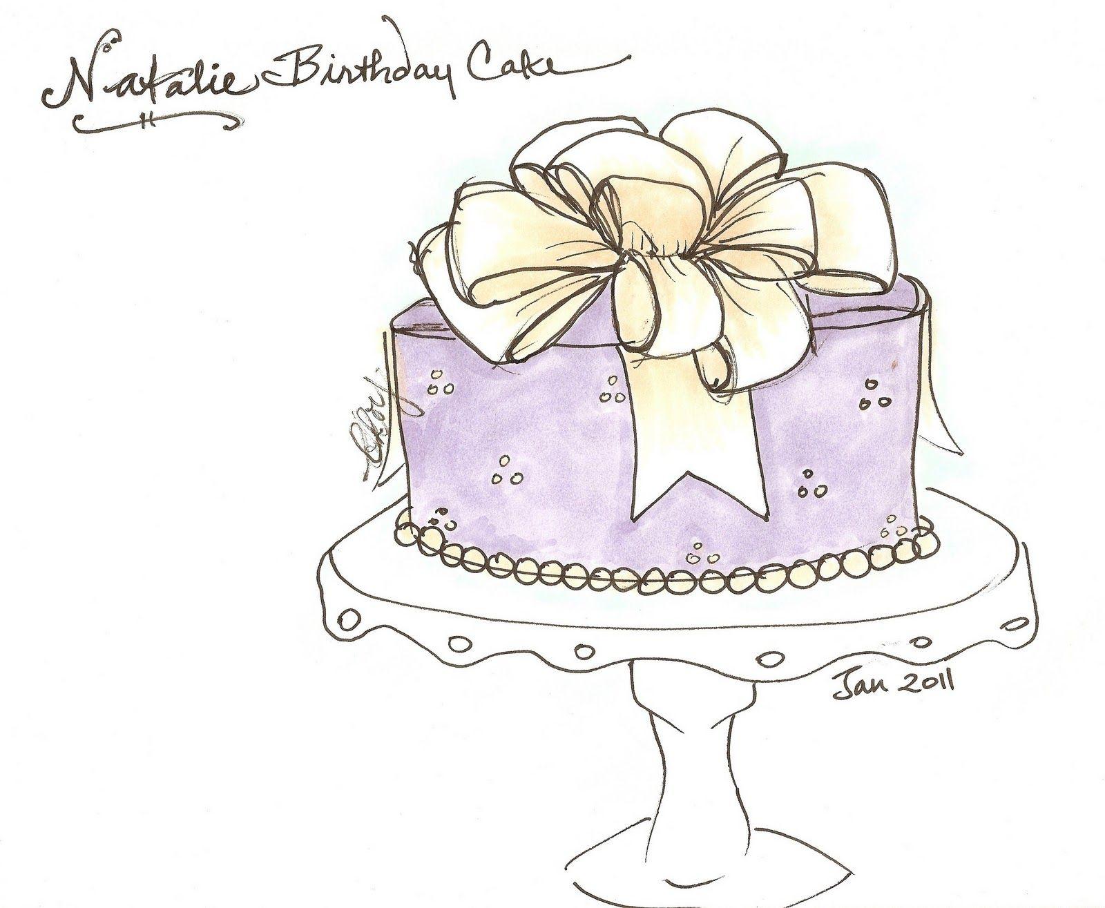 Classy cake drawings.