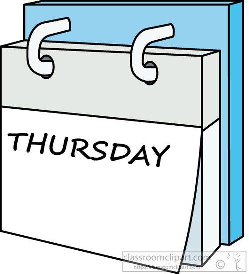 Day week calendar.