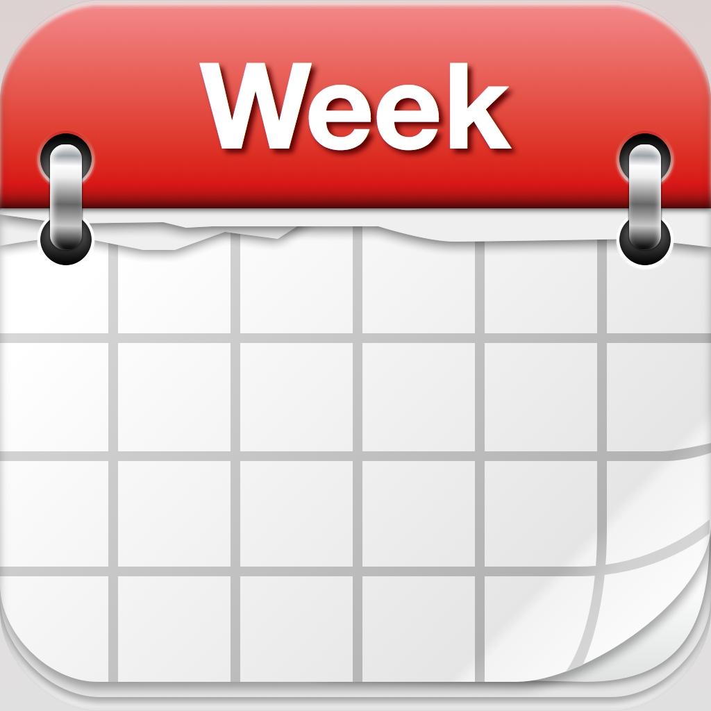 Free calendar weekly.