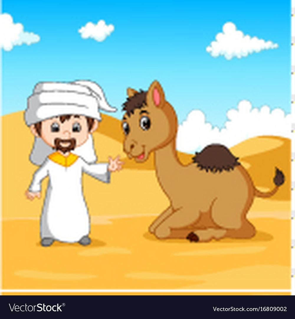 Arab boy and.