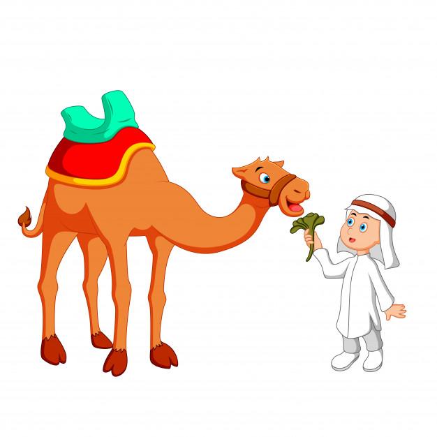 Arab boy with.
