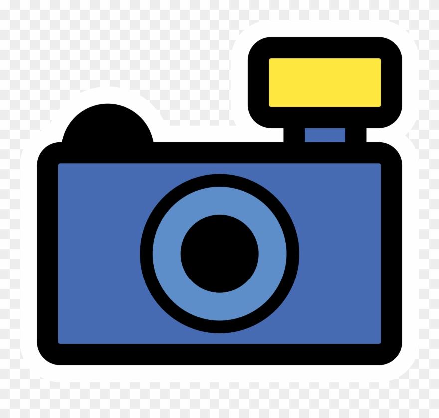 Blue Camera Clipart