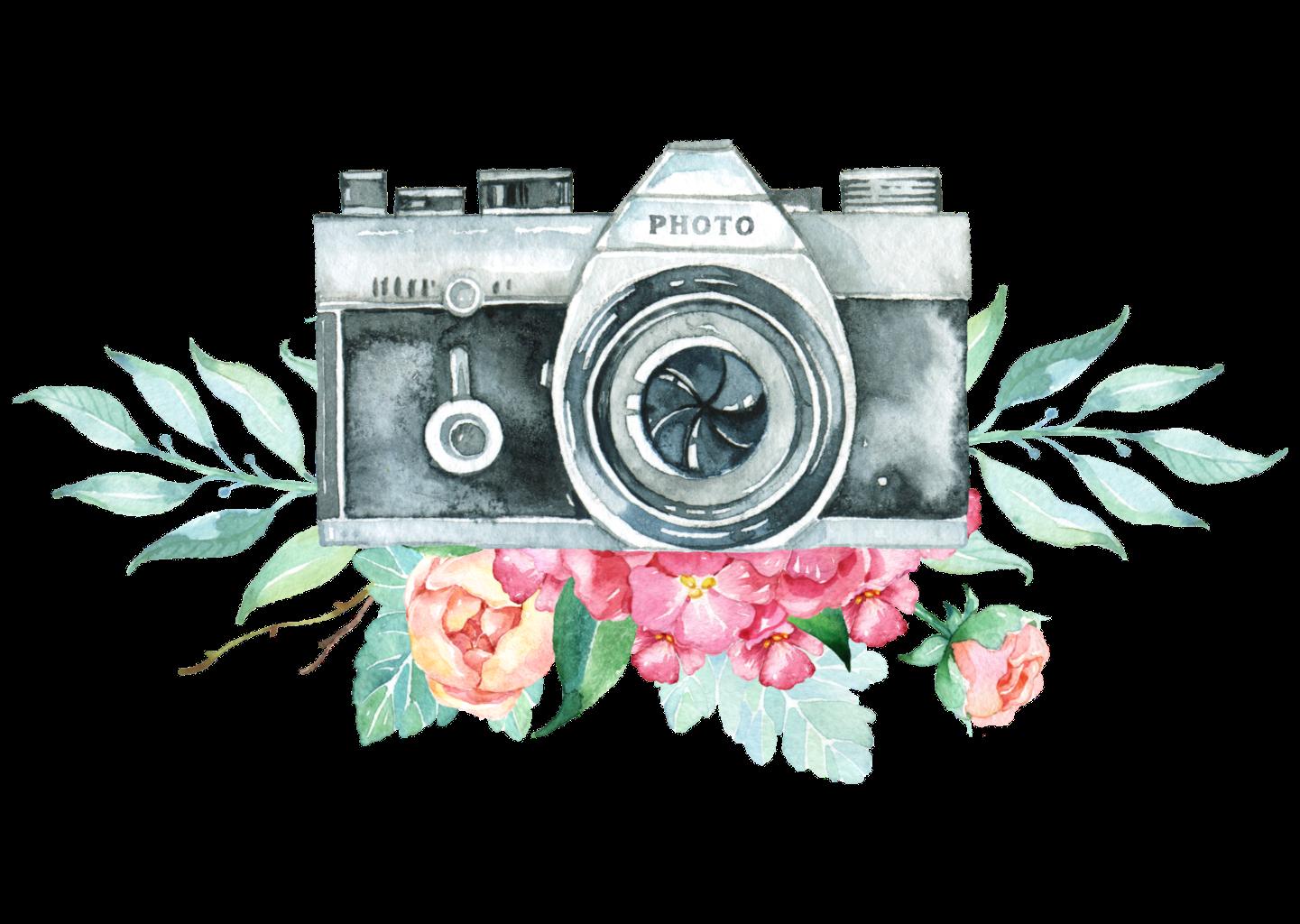 Camera clipart flower, Camera flower Transparent FREE for
