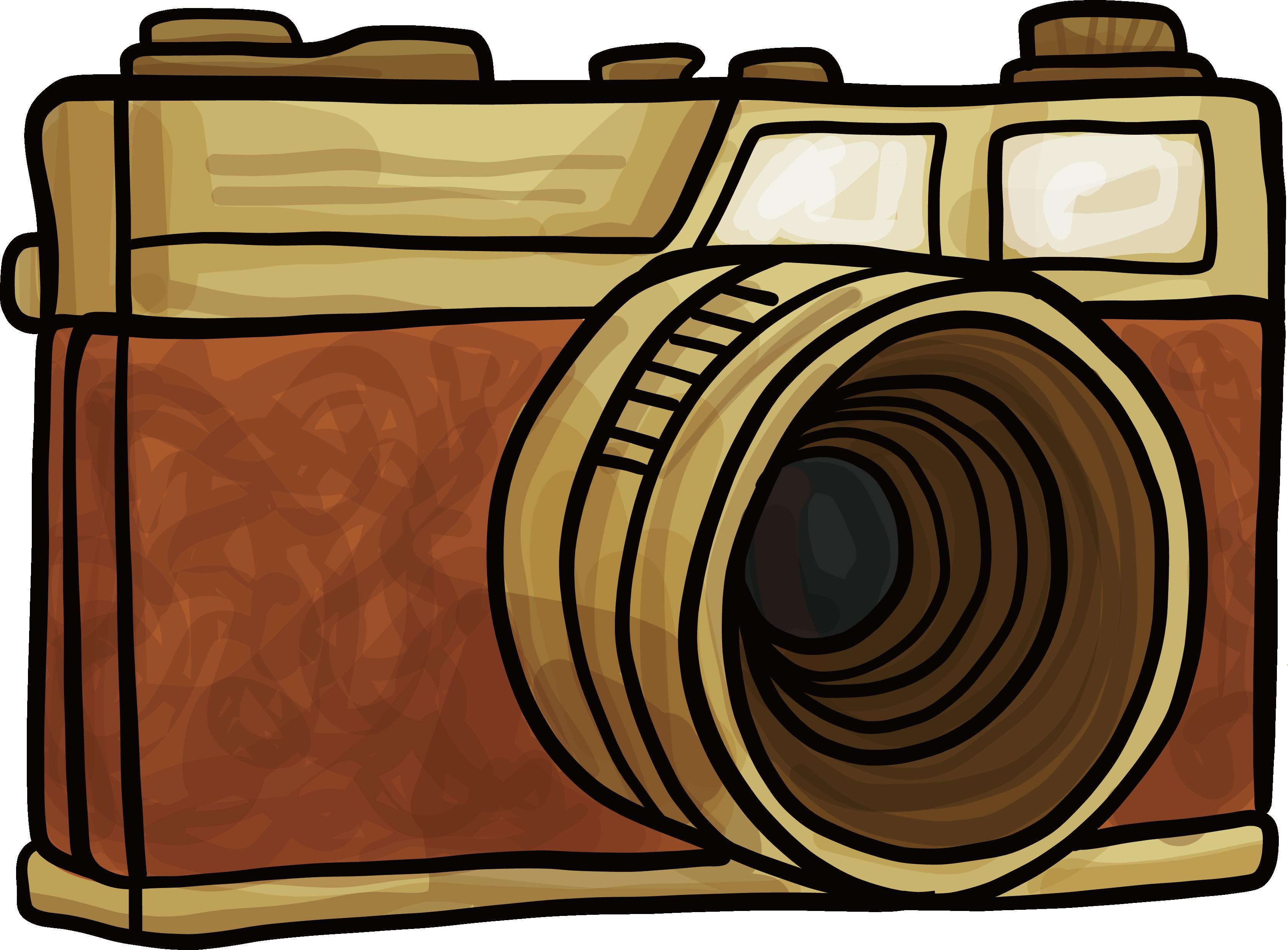 Camera clipart retro.