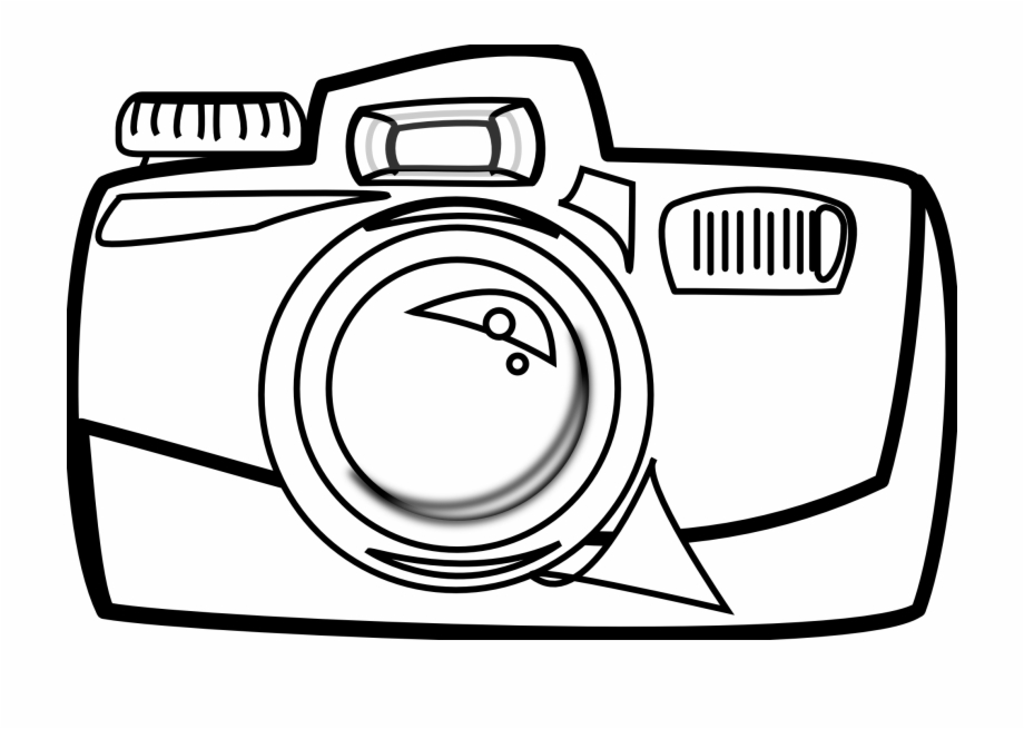 Camera Clipart Black And White Png