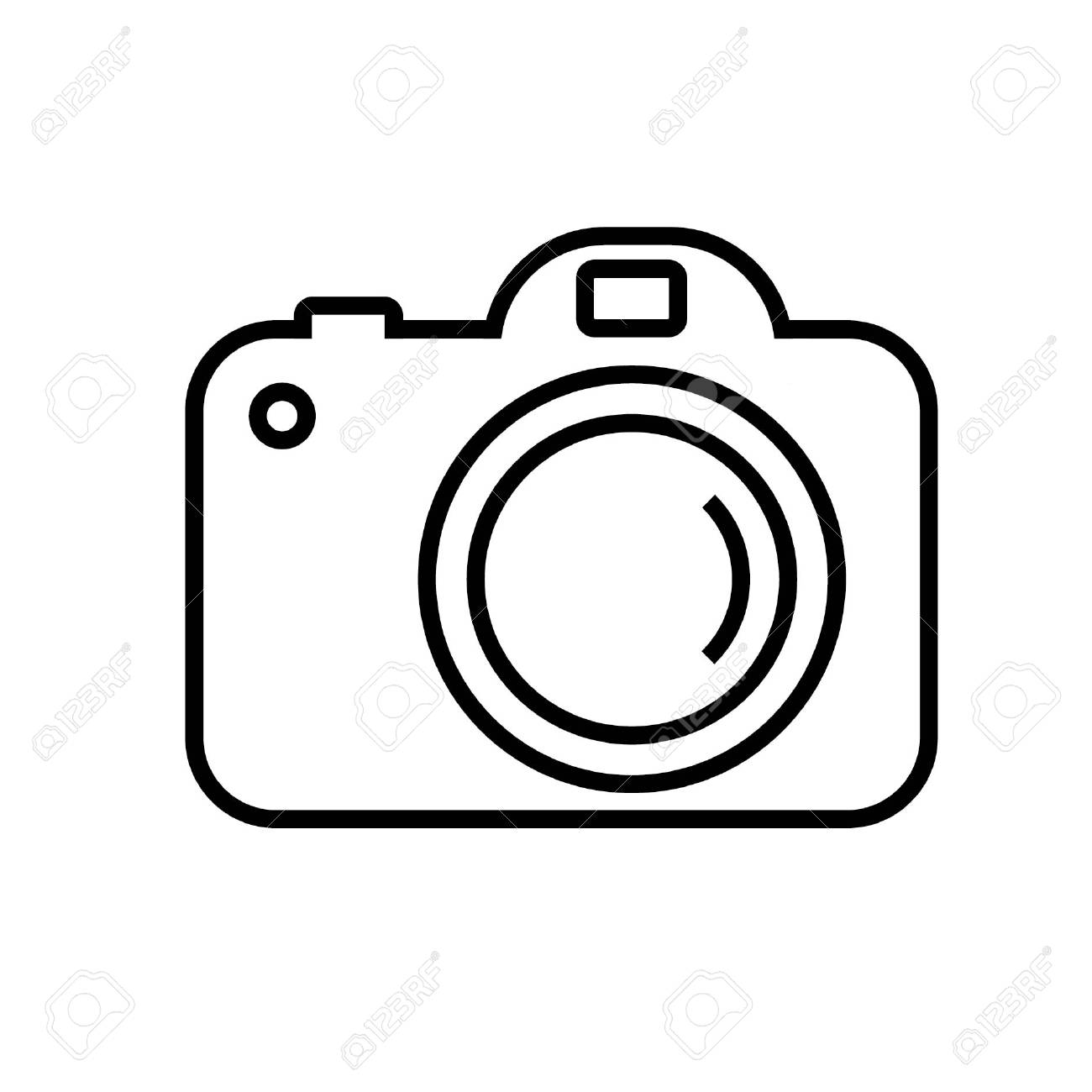 Simple camera clipart black and white