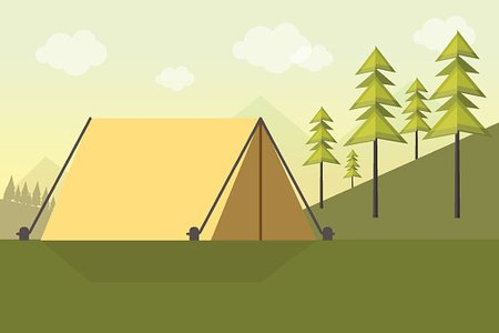 Camping Background Clipart Image