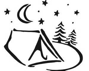 Printable camping stencils.