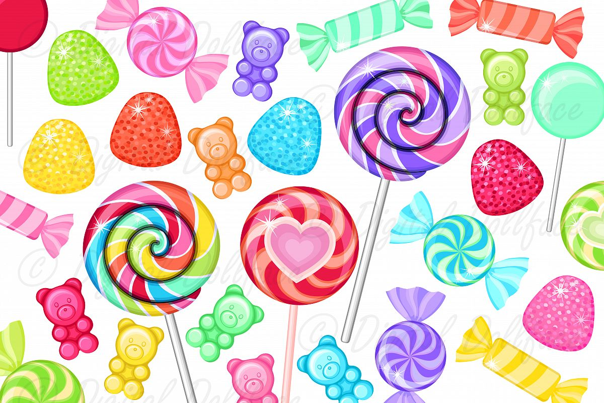 Colorful candy clip.