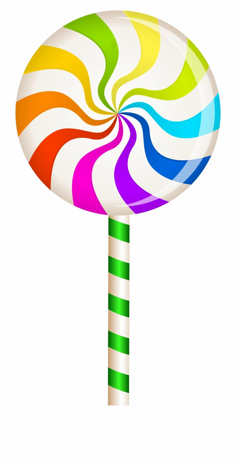 Multicolor swirl lollipop.
