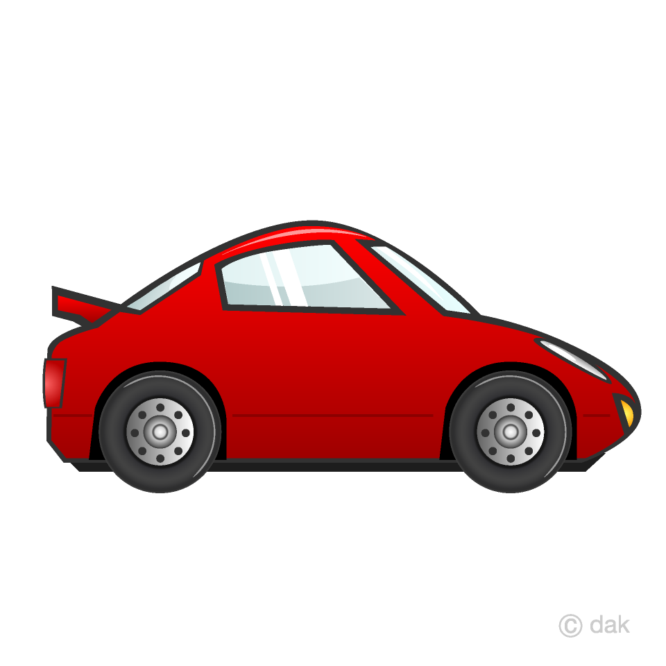 Free Red Sports Car Clipart Image