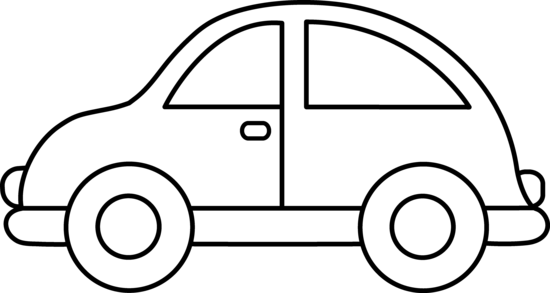 Car black car clipart black and white