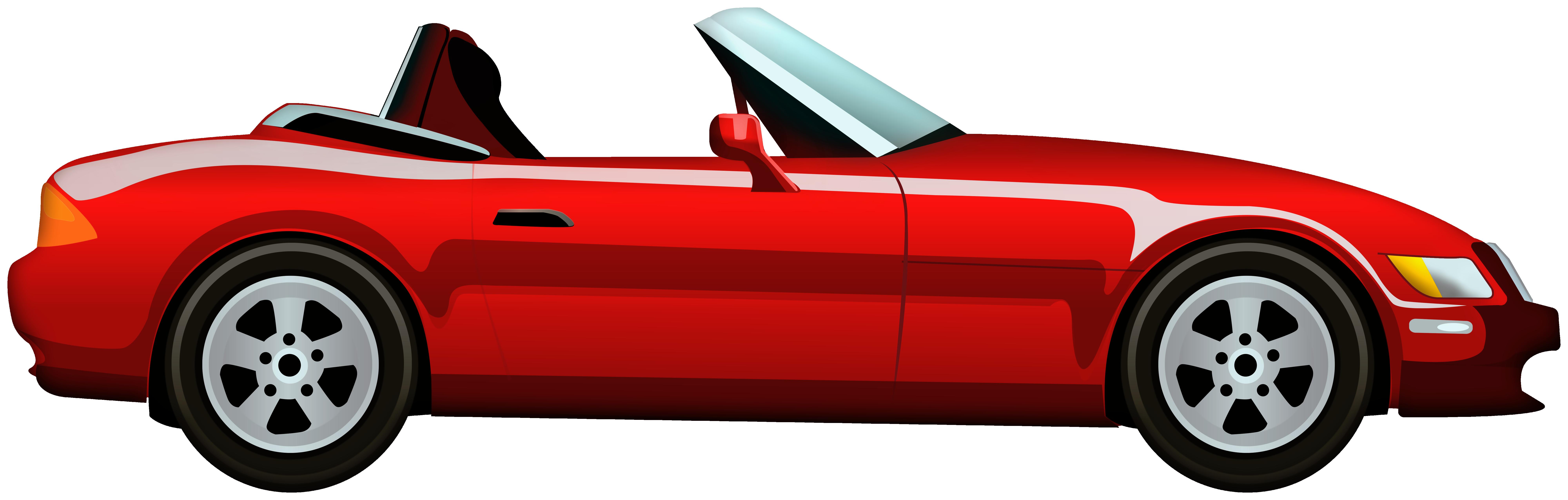 Red Cabriolet Car PNG Clip Art